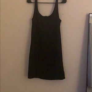 HM black spandex dress